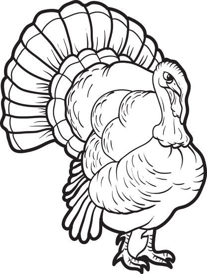 Printable Turkey Coloring Page For Kids Turkey Coloring Pages Animal Coloring Pages Coloring Pages