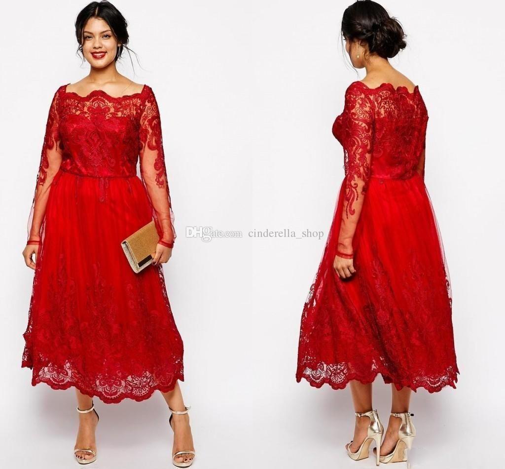 Modest Tea Length Wedding Dresses of Wedding for Guests