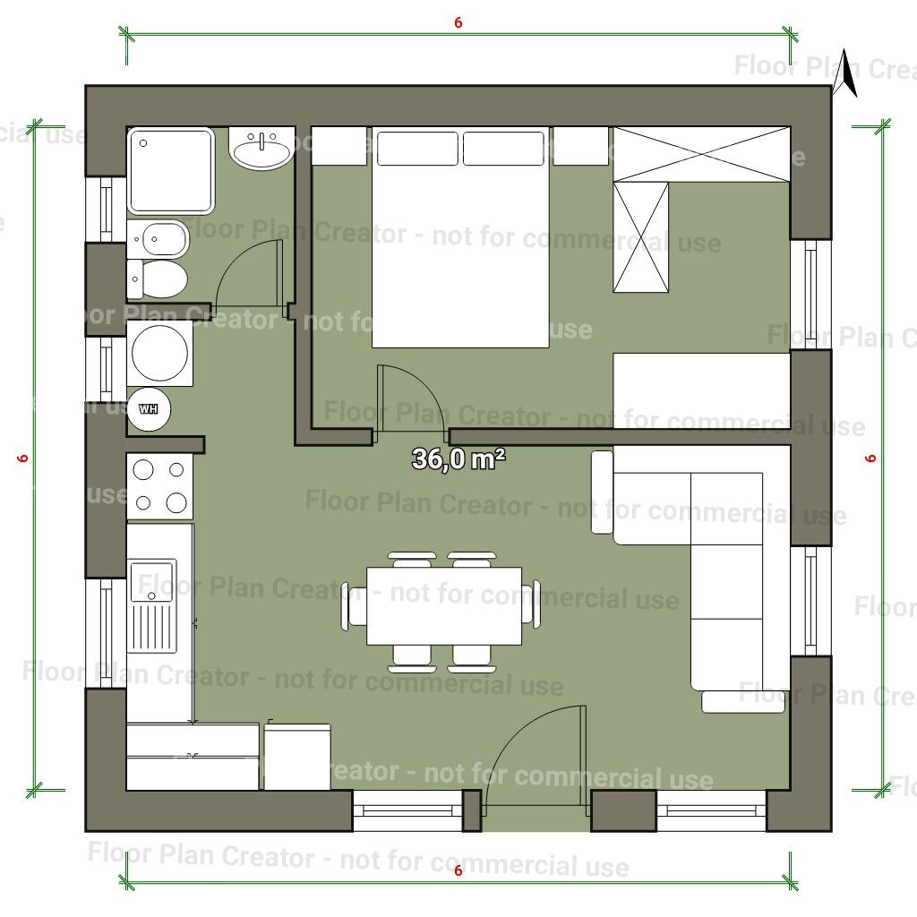 Interesting I Could See This Floorplan Working If Two Bedrooms