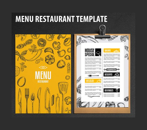 Restaurant Menu Template u2013 20+ Free PSD, EPS Documents Download - free food menu template