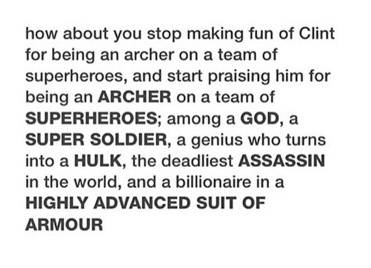 I feel like this wasn't a well-planned defense. These are all the reasons TO make fun of Clint.