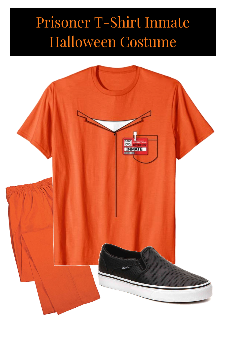 this halloween prisoner t-shirt is an inmate halloween costume shirt
