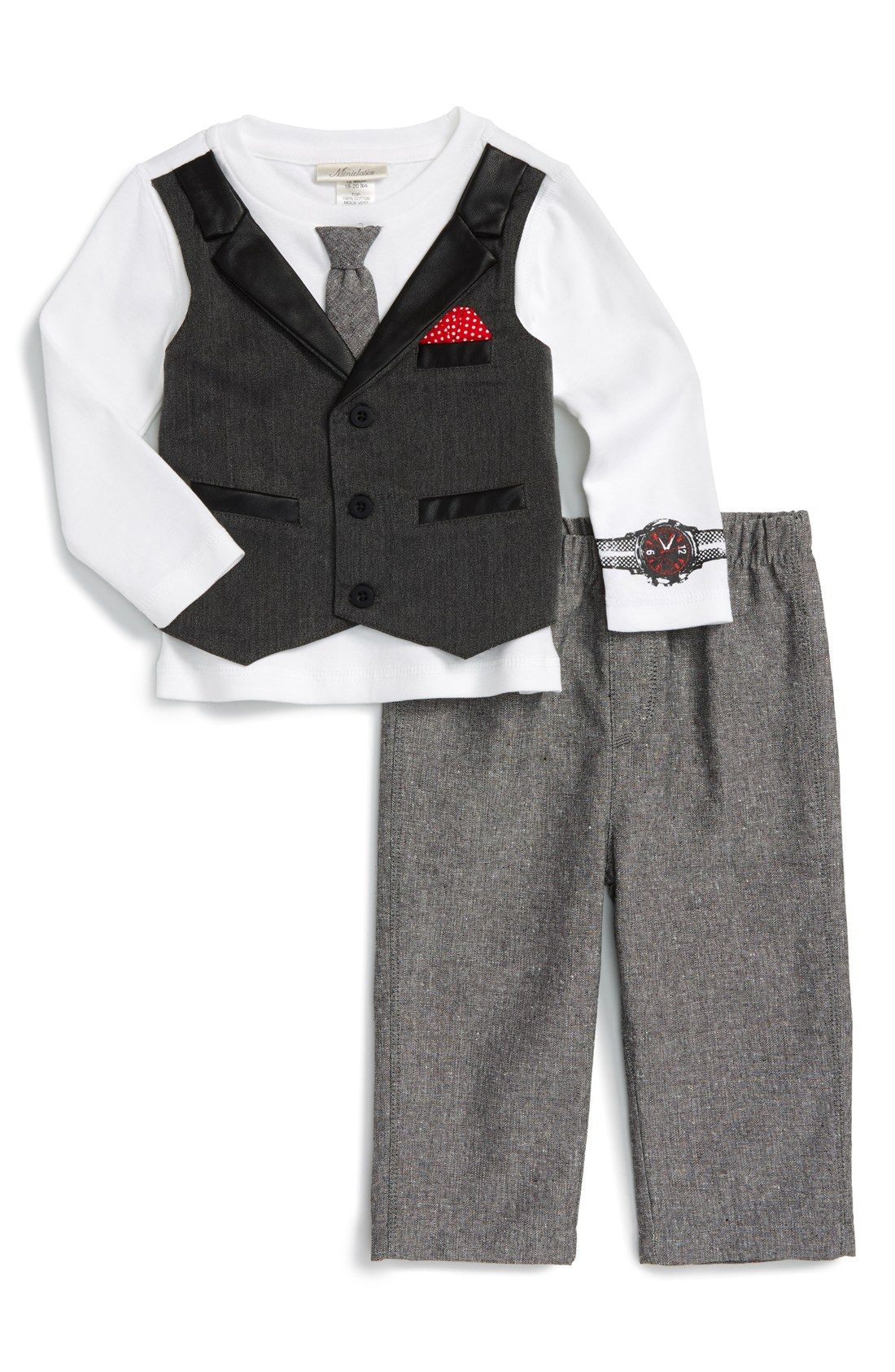 3 year old boy hairstyles free shipping and returns on miniclasix top u pants set baby boys