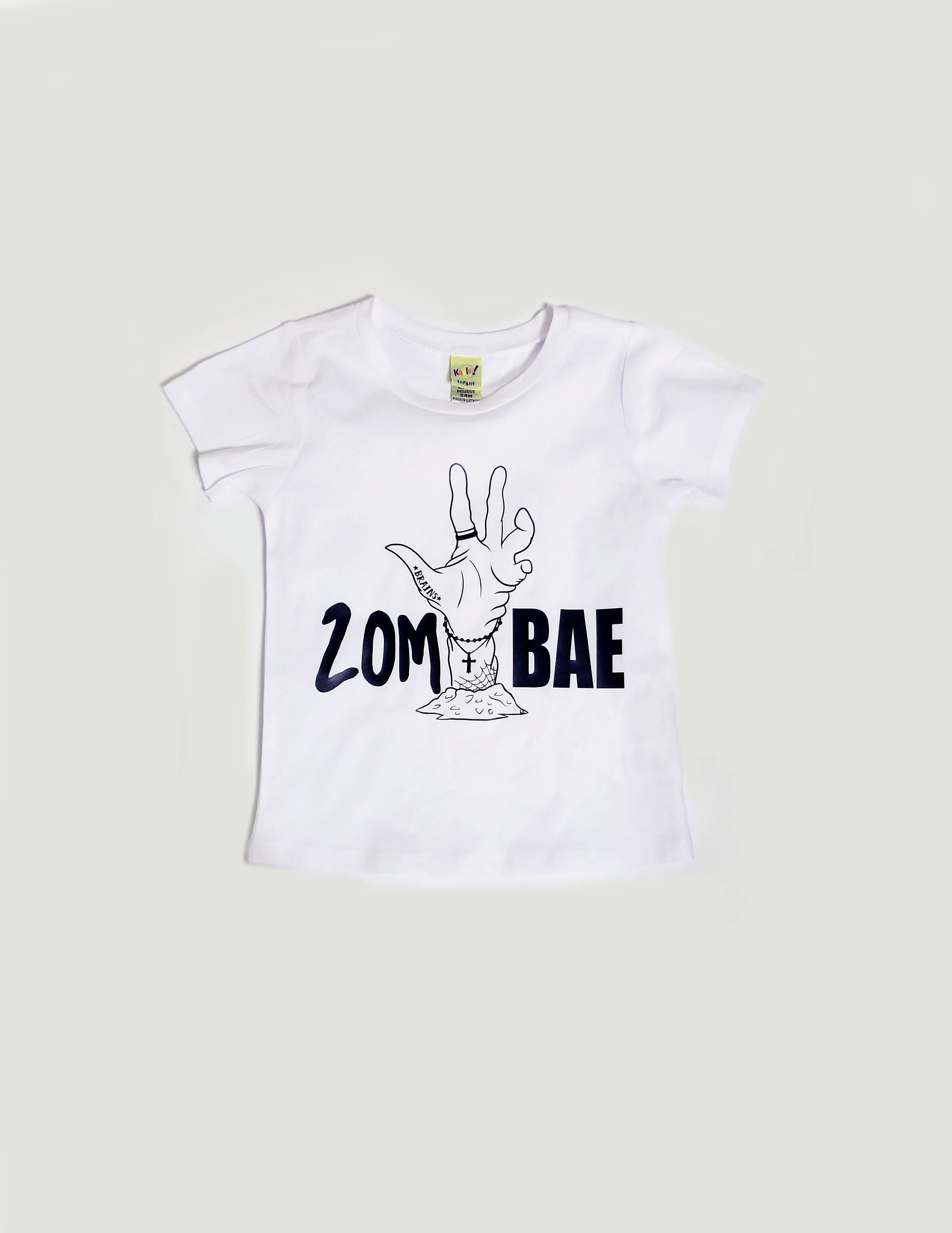 zombae tattoo inspired tee zombie hipster kids clothes halloween