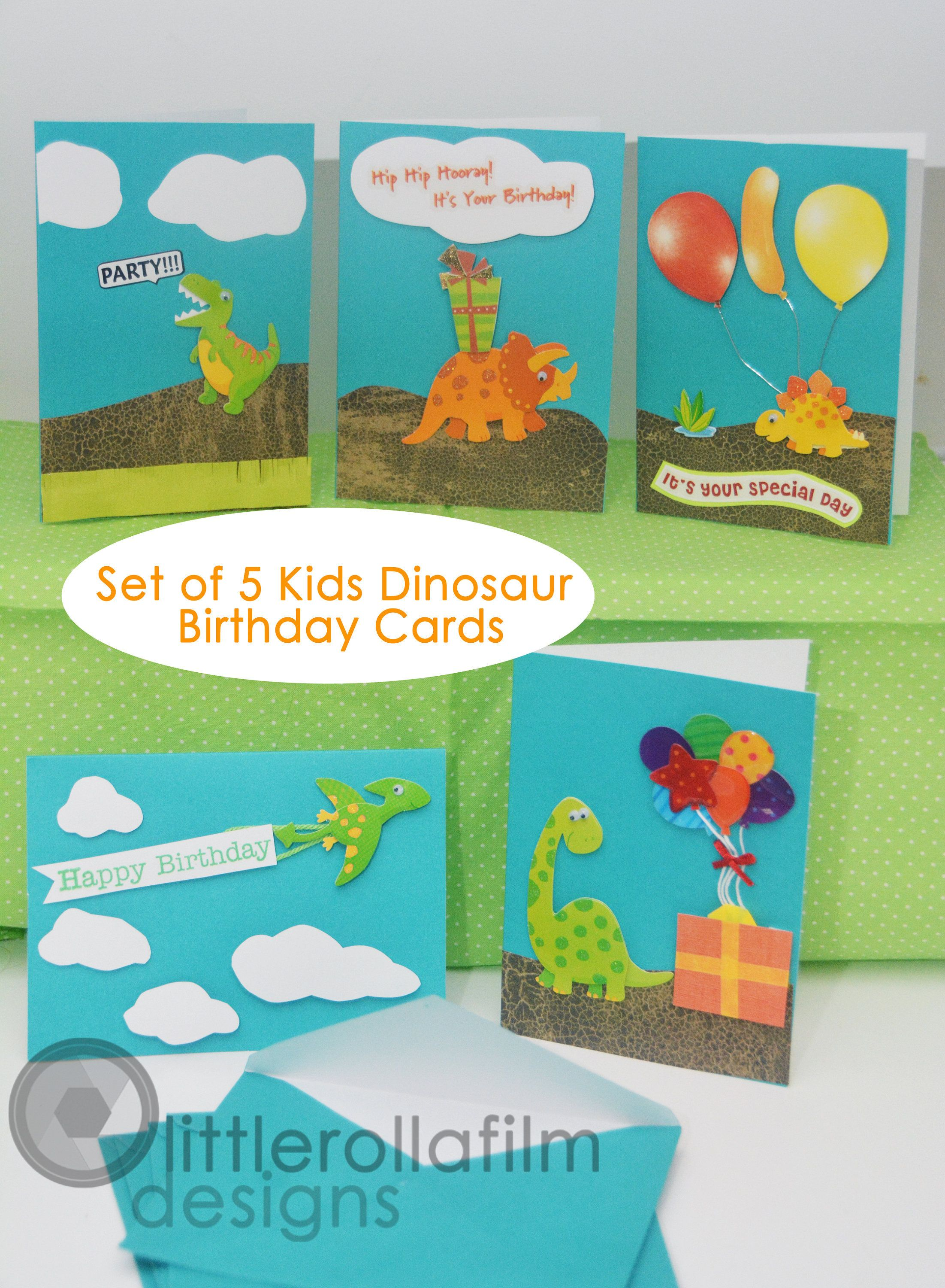 Set Of 5 Birthday Greeting Cards