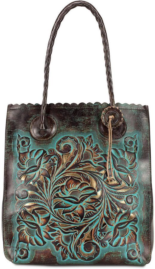 Photo of Patricia Nash Turquoise Tooled Leather Cavo Tote  & Reviews – Handbags & Accessories – Macy's