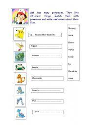 photograph regarding Pokemon Math Worksheets Printable called English worksheets: pokemon worksheets, webpage 2 instruction