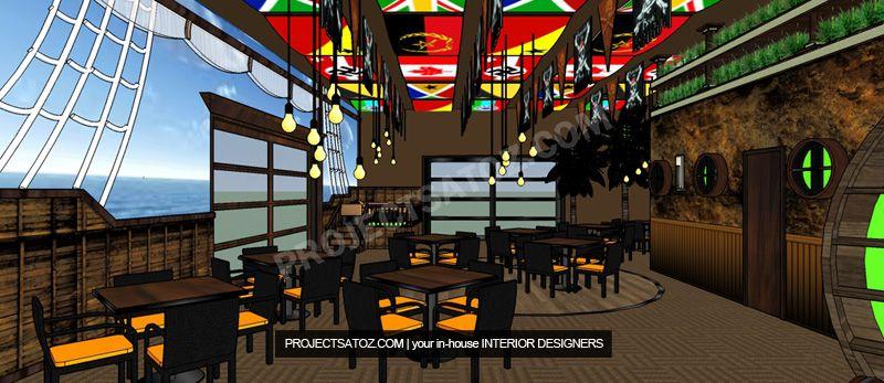 Pirate Caribbean Themed Restaurant Interior Design