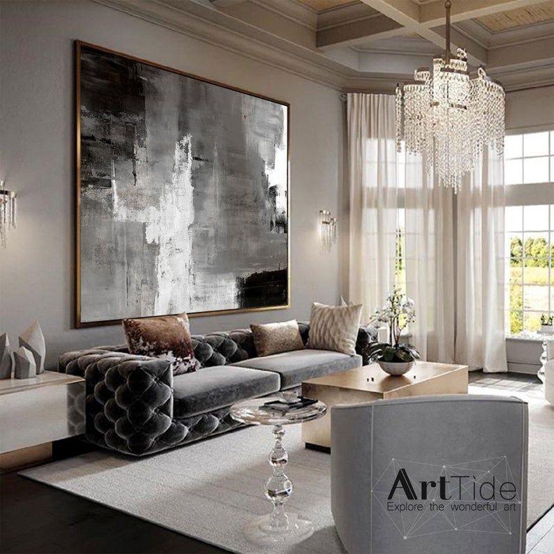 large abstract artoriginal abstract paintingblack and