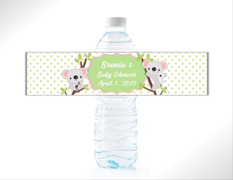 Koala Babies Water Bottle Labels Personalized water
