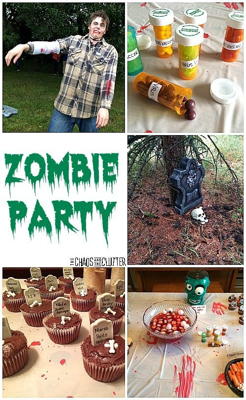 Zombie Party Zombie party Decoration and Birthdays