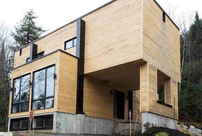 a acheté quatre containers métalliques, et les a transformés pour - site pour construire sa maison