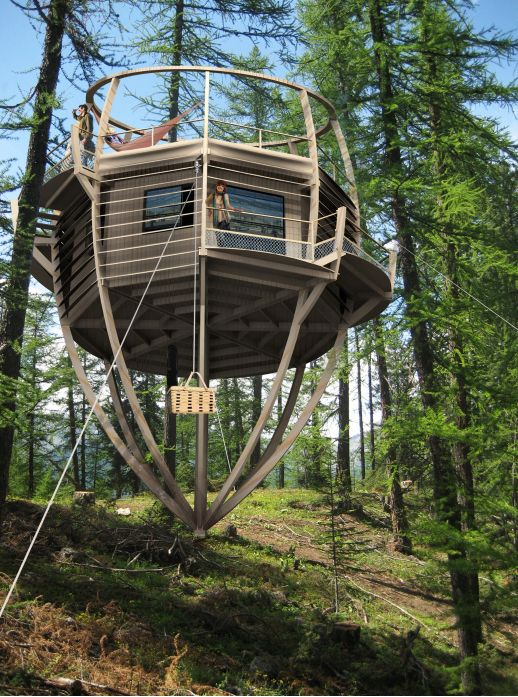 cabanes dans les arbres recherche google tree houses pinterest treehouse tree houses. Black Bedroom Furniture Sets. Home Design Ideas