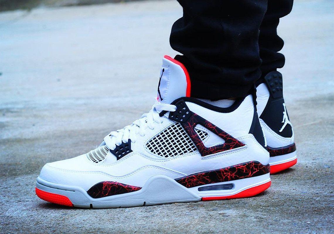 """Air Jordan 4 Retro /""""Flight Nostalgia/"""" Hot Lava White Bright Crimson 308497-116"""