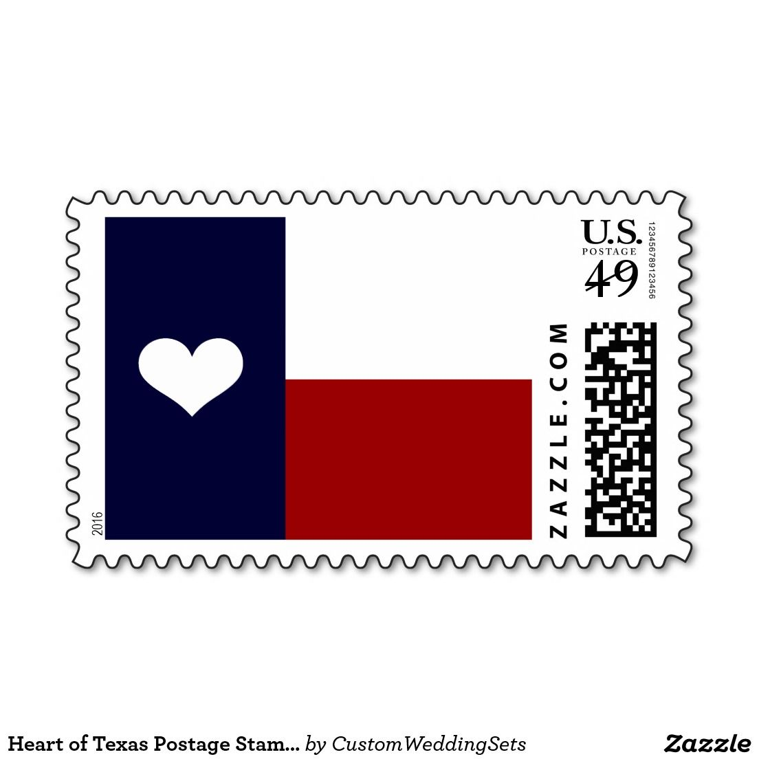 Heart of Texas Postage Stamps | Rustic Country Wedding Invitations ...