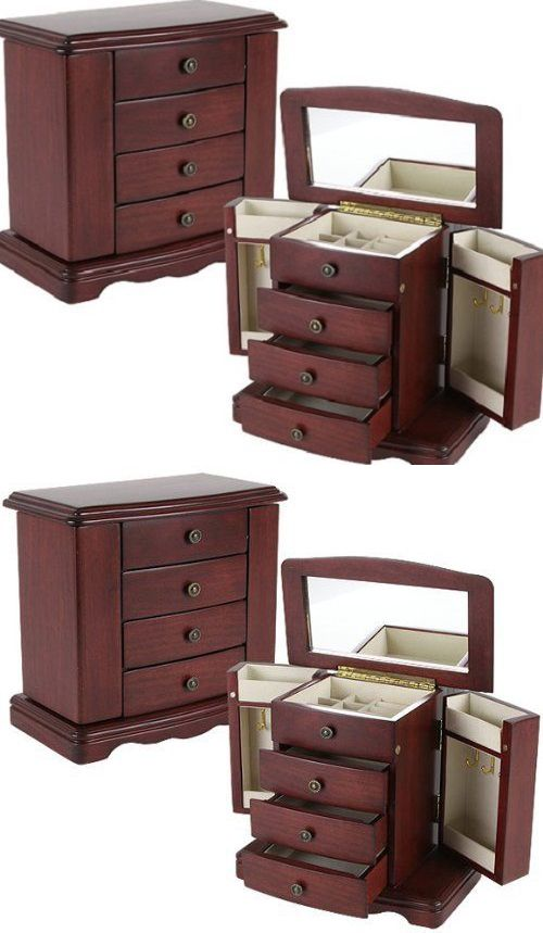 Jewelry Boxes 3820 New Jewelry Cabinet Armoire Box Storage Chest