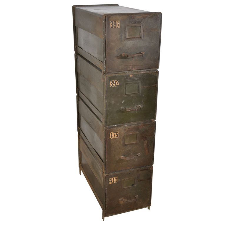 Industrial Style Stackable Metal Filing Cabinets | Modern cabinets ...