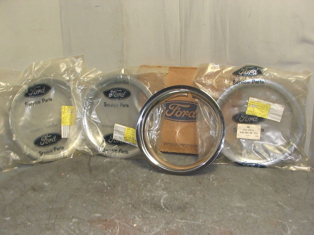 66 Mustang Fairlane Wheel Trim Rings C6ZZ 1210A | eBay