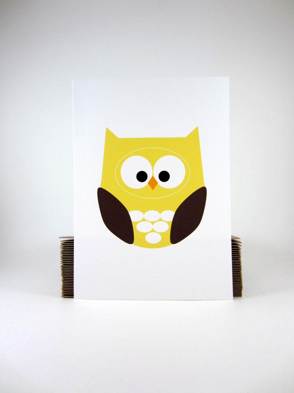 Sample Sale, Discount, Spring Sale, Yellow Owl Wall Art Print, Kids ...