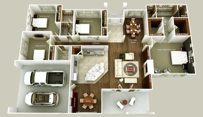 Model 3d And Render Your Floor Plan By Sketchup Very Fast By