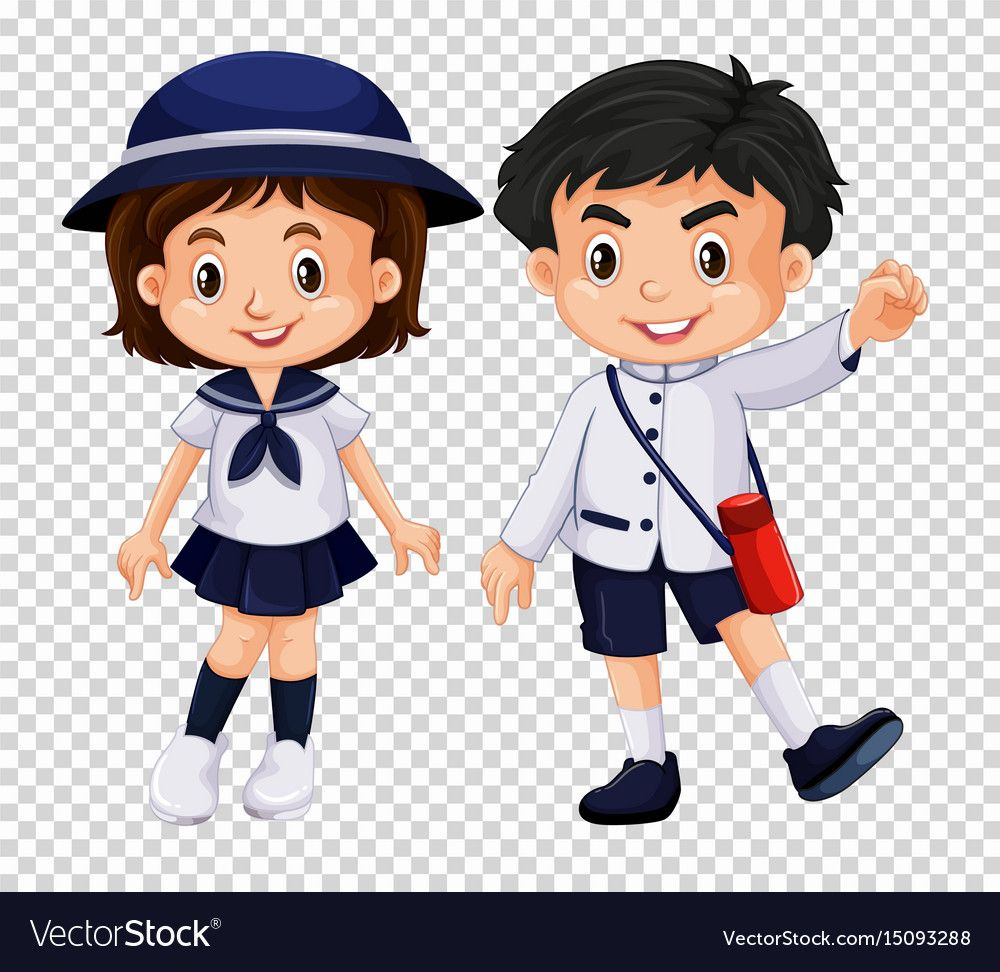 Boy And Girl In School Uniform Illustration Download A Free Preview Or High Quality Adobe Illustrator Ai Eps Pdf And High Anime Child Boy Or Girl Chibi Boy