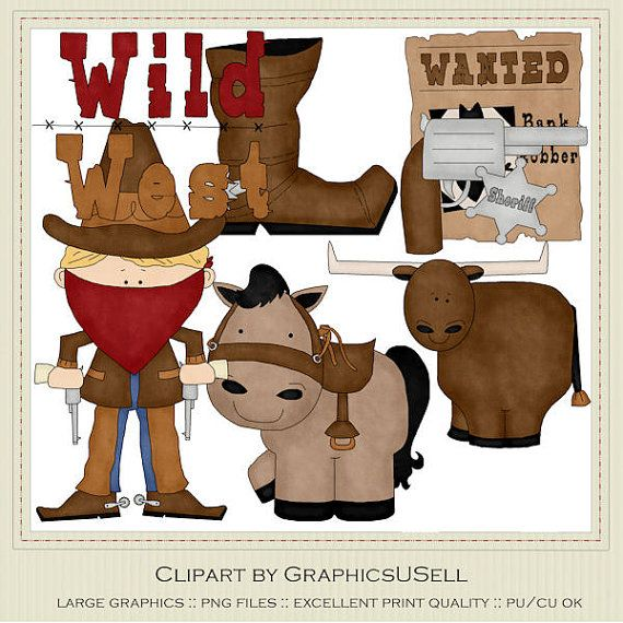 Wild West Clip Art Graphics by Alice Smith by marlodeedesigns, $1.50
