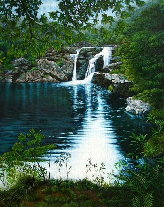 Landscape Nature Scenery Painting