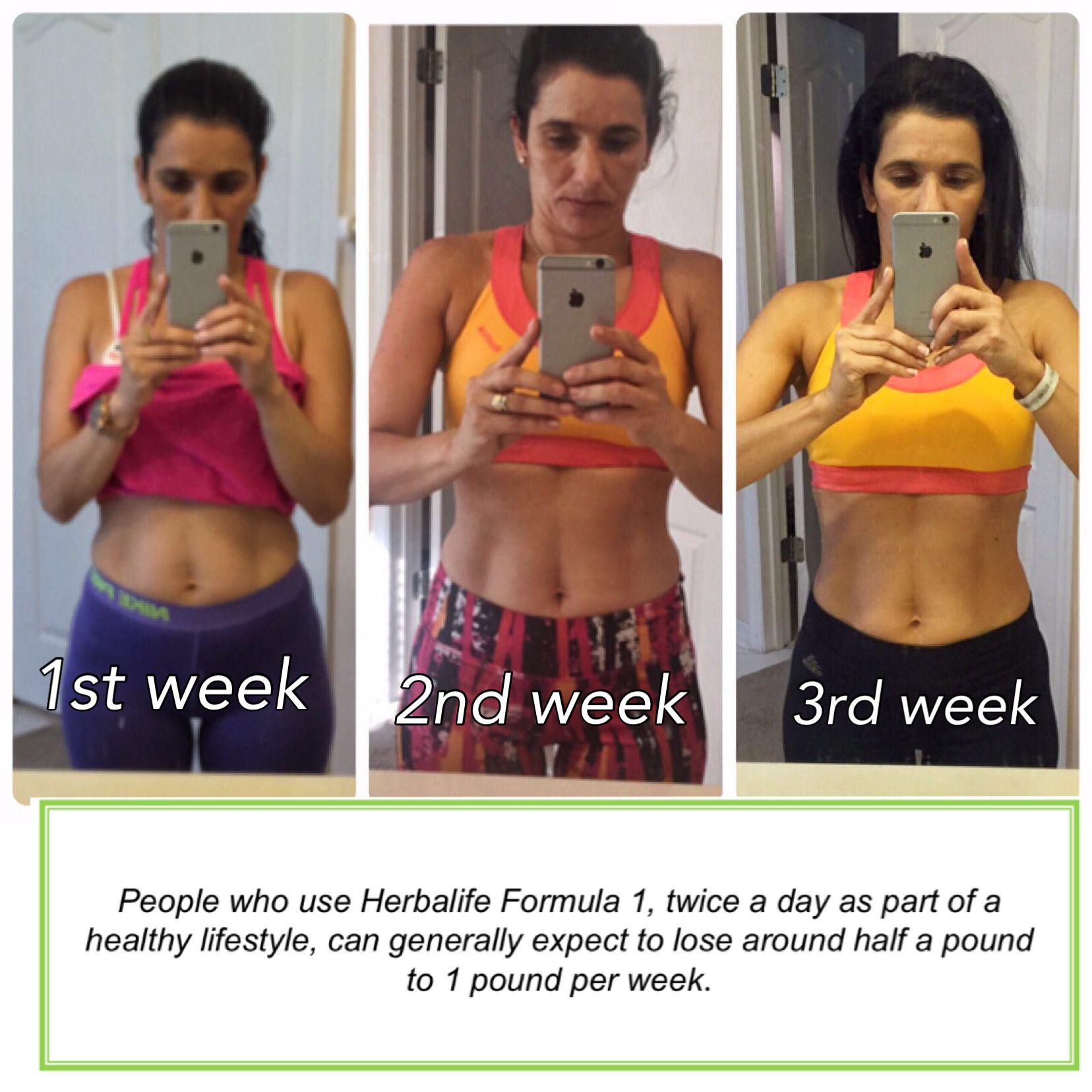 Herbalife Results In Only Three Weeks Herbalife Results Herbalife Healthy Lifestyle