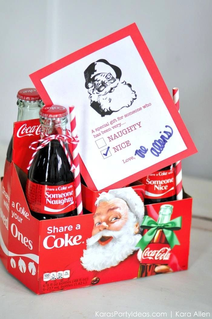Naughty Or Nice Christmas Party Ideas Part - 22: Holiday Christmas Neighbor Gifts | Naughty Or Nice | Coca Cola Bottles | By  Karau0027s Party