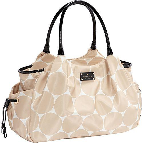 designer disper bag o717  kate spade new york Deborah Dot Nylon Stevie Baby Bag Perfect Beige