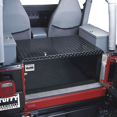 tuffy rear cargo aluminum storage box black 87 13 wrangler yj tj jk tuffy 054 01 free. Black Bedroom Furniture Sets. Home Design Ideas