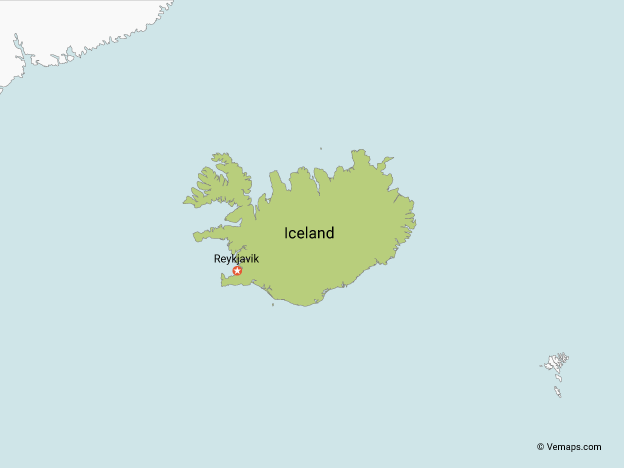 Map of Iceland with Neighbouring Countries | Maps with Neighbouring ...