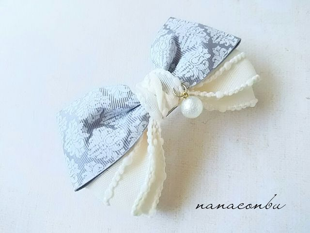 Photo of Pearl ribbon pearl hair accessories