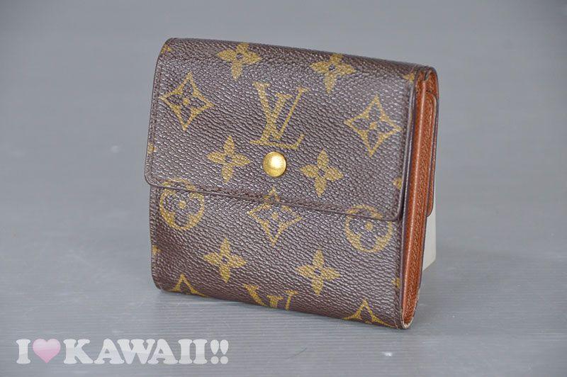 Authentic Louis Vuitton Monogram Porte Monnaie Billets Cartes Wallet M61652