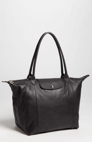dd11b80e29c Longchamp 'Le Pliage Cuir' Leather Tote   Nordstrom   Longchamp ...