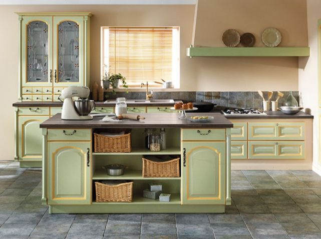 cuisine color e vert pistache schmidt cuisine kitchen pinterest cuisines color es. Black Bedroom Furniture Sets. Home Design Ideas