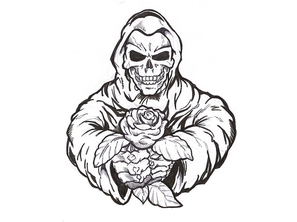Hand Drawings Roses And Skulls: Drawings Of Skulls And Roses And Hearts
