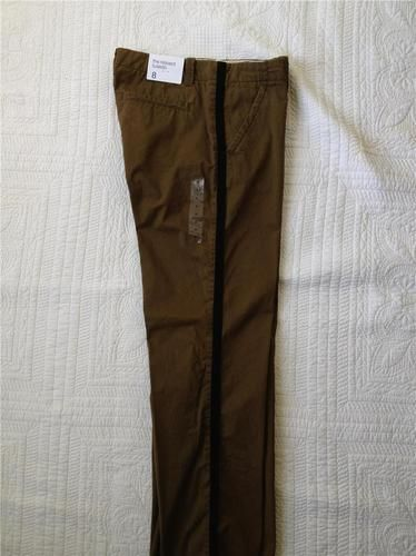 GAP WOMENS THE RELAXED TUXEDO KHAKI PANT IN DARK OLIVE BRAND NEW WITH TAG SIZE 8