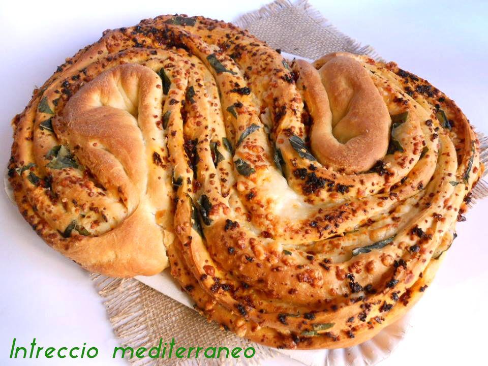 Intreccio mediterraneo, ricetta lievitata | Il mondo di Adry