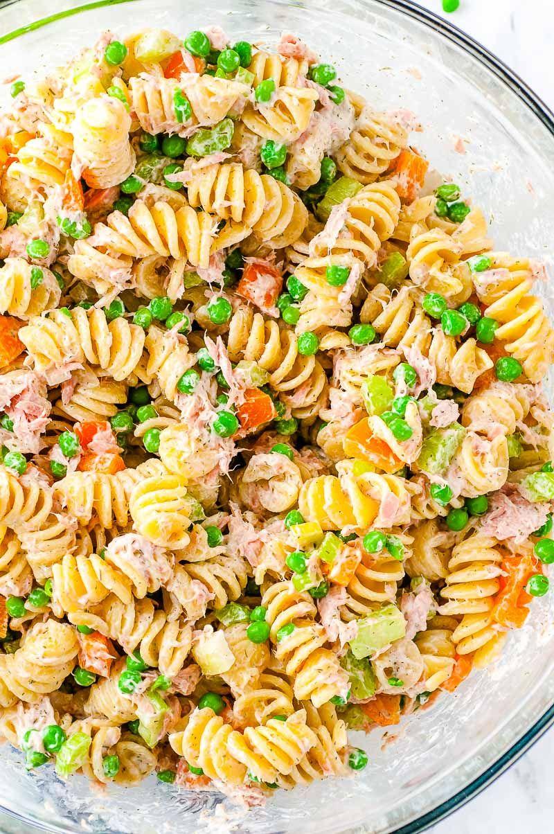 tuna pasta salad  old fashioned recipe in 2020  pasta