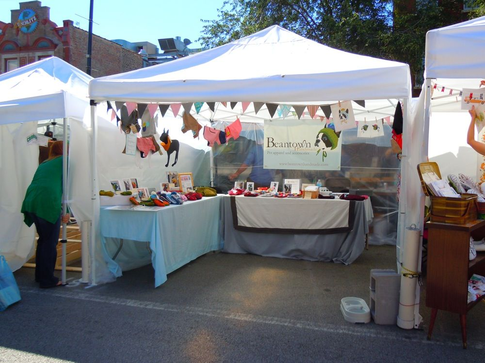 Cute little craft fair setup craft shows retail spaces for Display tents for craft fairs