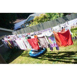 Household Essentials 5 Line Retractable Indoor Outdoor Clothes Dryer