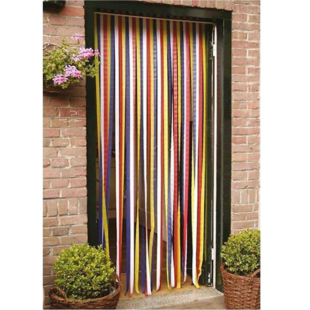 Strip Blind Multicoloured Door Fly Curtain Screen Door Curtains