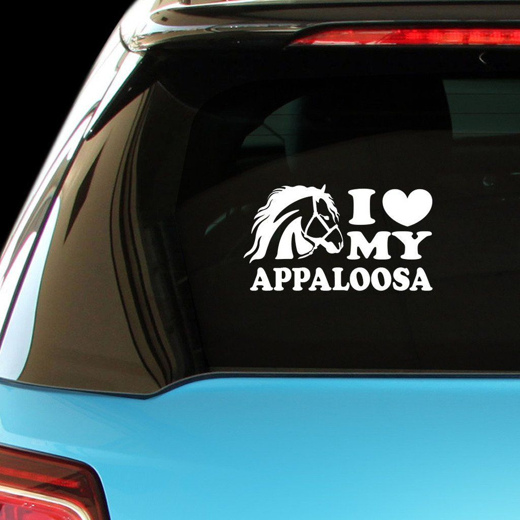 Amazon Com Shirtmania I Love My Appaloosa Horses Car Laptop Wall Sticker Automotive Appaloosa Horses Appaloosa Wall Sticker [ 1024 x 1024 Pixel ]