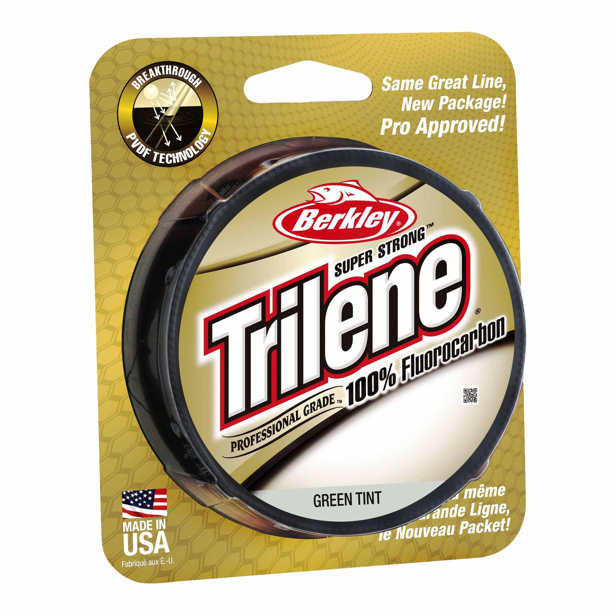 Berkley Trilene Fluorocarbon Professional Grade Filler Spool Line 15 lb, 200 Yards, Green