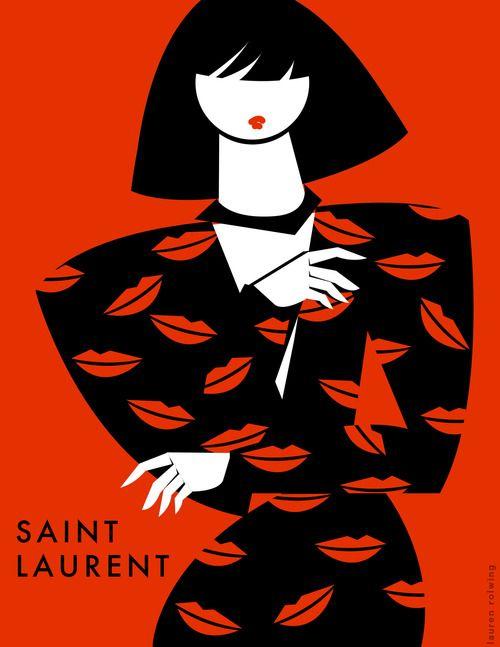 Lauren Rolwing fashion illustration #saintlaurent #laurenrolwing