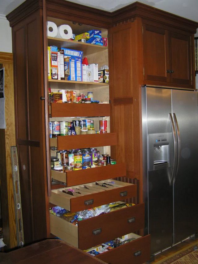 12 Deep Pantry Next To 24 Deep Fridge Cabinet Pantry Cabinet Built In Pantry Deep Pantry