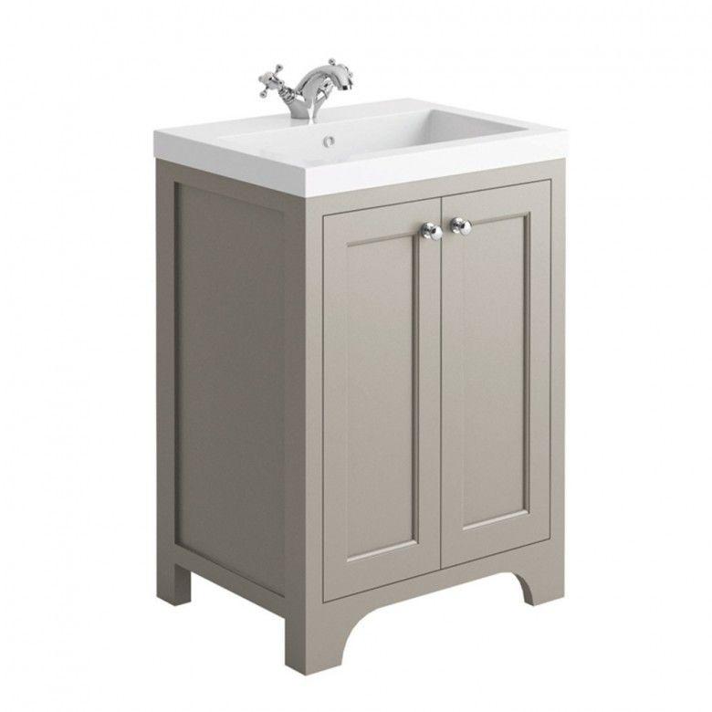 Butler Rose Benedict 600mm Floorstanding Vanity Unit Basin Dovetail Grey In 2020 Vanity Units Vanity Shower Fittings