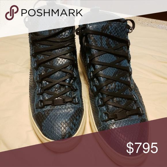 Snake skin shoes, Balenciaga high top