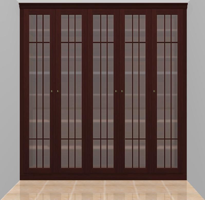 Armario de estilo clasico con puertas abatibles y - Cristales para puertas ...
